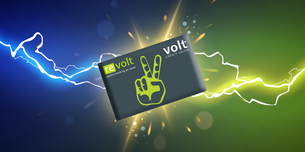 Volt on a card with lightning bolts around it